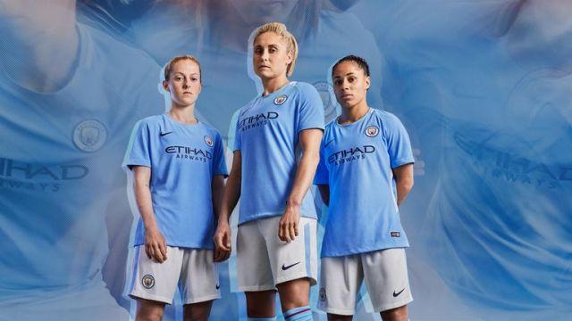 曼城女足将成为周三晚上穿着新球衣的第一支球队(来源:耐克)