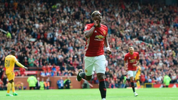 Paul Pogba's first goal after his United return also made the top three