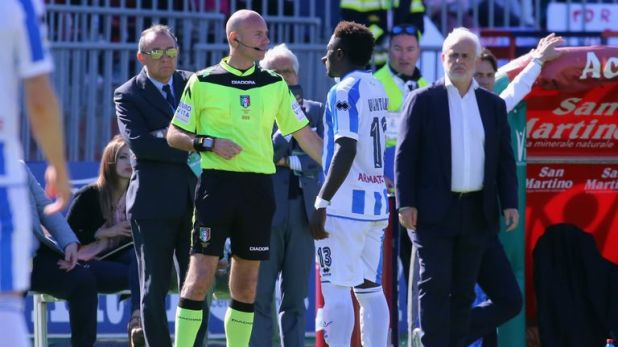 Sulley Muntari was racially abused in Pescara's game at Cagliari