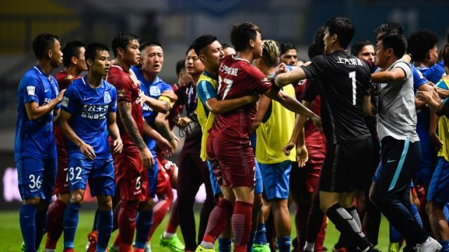 Things turned ugly between Shanghai SIPG and Guangzhou R&F