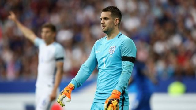Tom Heaton parried two efforts into the path of France players to score