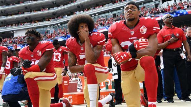 Colin Kaepernick began kneeling during the American national anthem in 2016