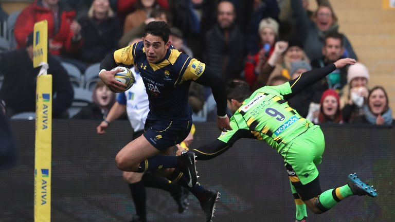 Bryce Heem scored a hat-trick as Worcester saw off Northampton