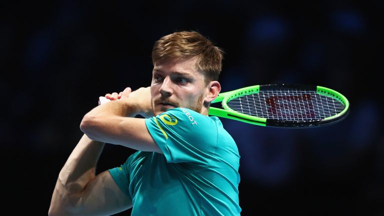 Image result for David Goffin will play Roger Federer in the knockout stages of the ATP Finals