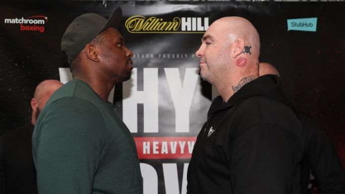 Whyte defends his WBC 'silver' belt against Browne at The O2