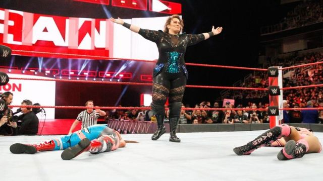 Nia Jax sent out a message to Asuka by laying out Bayley and Sasha Banks after their match