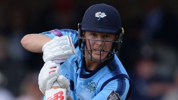 Yorkshire's Gary Ballance hit two sixes and seven fours in his 91 off 140 balls