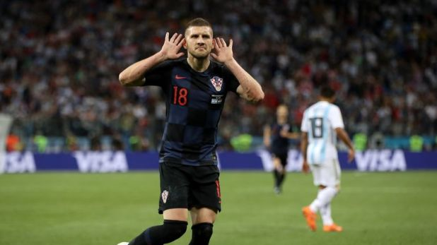 Ante Rebic impressed for Croatia at the World Cup