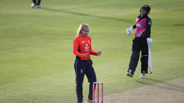 Sophie Ecclestone took four wickets as England beat New Zealand