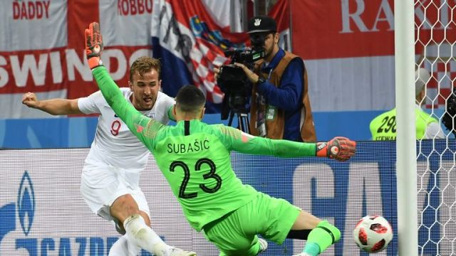 Subasic crucially denied England a second goal, turning Harry Kane's effort onto the post