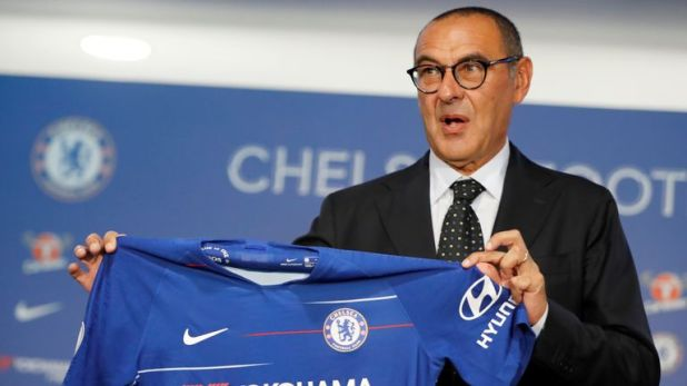 Maurizio Sarri was unveiled by Chelsea last week
