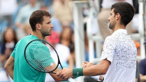 Novak Djokovic completed a three-set win over defending champion Grigor Dimitrov