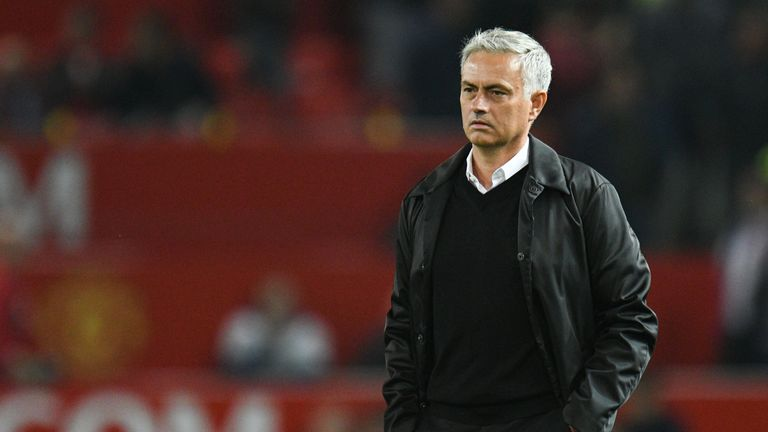 Jose Mourinho watched his Man Utd side crash to the worst home defeat of his managerial career on Monday