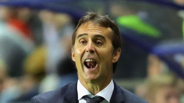 Julen Lopetegui saw his side lose at the Ramon Sanchez-Pizjuan Stadium