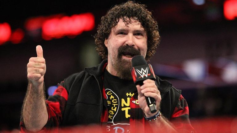 Image result for Mick Foley announces he will be special referee for Strowman & Reigns Hell in a Cell match
