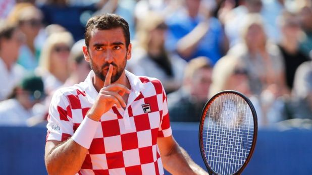 Cilic was handed a code violation by umpire Carlos Ramos during his surprise four set defeat to Sam Querrey