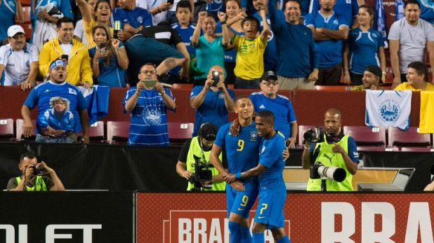 Richarlison was called up to the Brazil national team following his Everton form