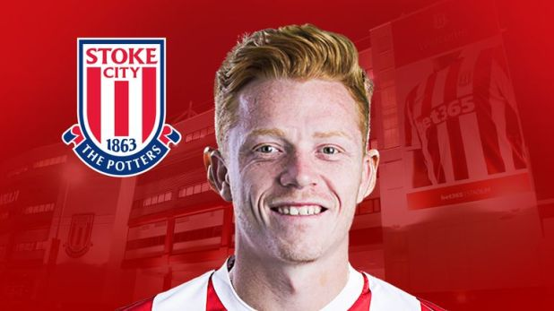 Stoke midfielder Ryan Woods has made a quick impact at his new club