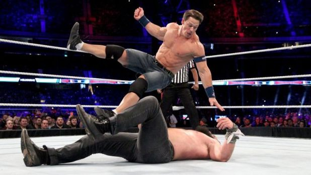 John Cena was in the ring for a matter of seconds at the Super Show-Down pay-per-view on Saturday