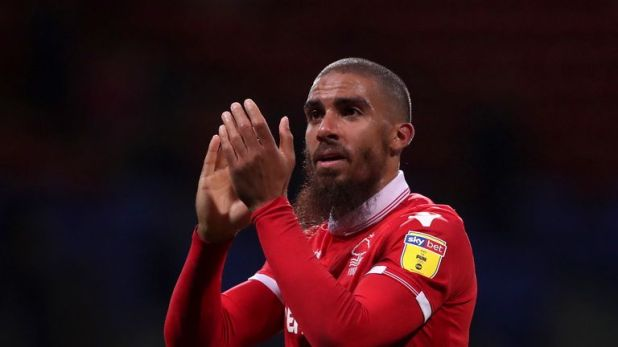 Nottingham Forest's Lewis Grabban scored his ninth league goal of the season -  but his season ranking has suffered by missing three of six penalty attempts