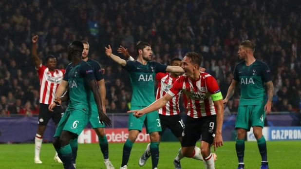 Tottenham drew 2-2 with PSV in their last Champions League outing