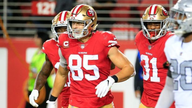 George Kittle has his second 100-yard receiving day of the season for San Francisco