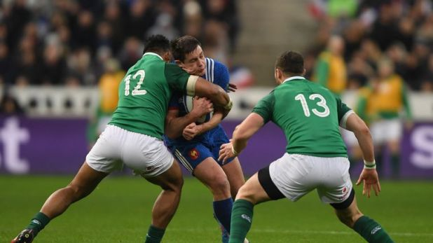 Bundee Aki (left) and Robbie Henshaw (right) will renew their centre partnership against Argentina