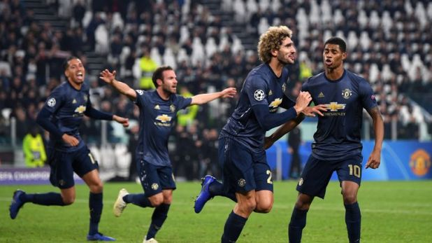 Marouane Fellaini came on against Juventus on Wednesday