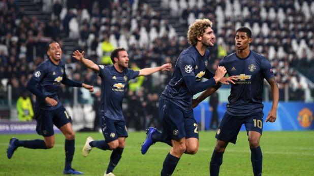 Marouane Fellaini came on against Juventus on Wednesday