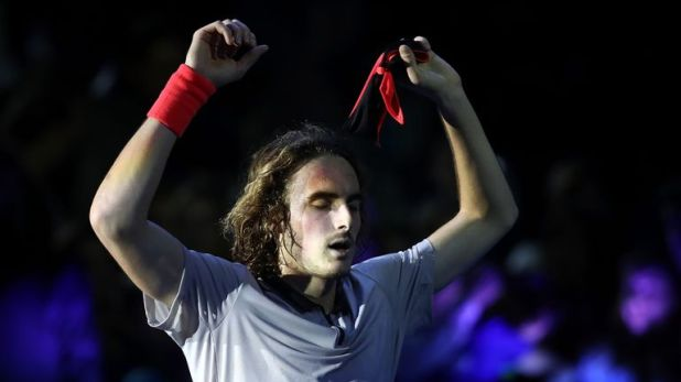 Stefanos Tsitsipas reached the final of the Next Gen ATP Finals in Milan on Friday night