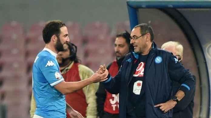 The Chelsea coach, Maurizio Sarri, has worked with Gonzalo Higuain at Napoli