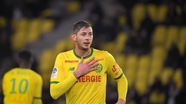 Nantes' Emiliano Sala is in Cardiff for a medical and talks