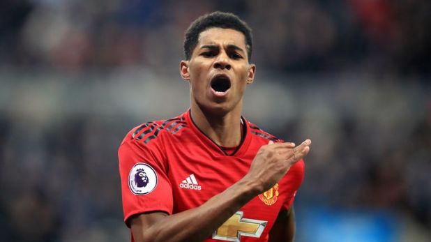 Rashford was often used out wide by former United boss Jose Mourinho, but Ole Gunnar Solskjaer has been deploying him through the middle