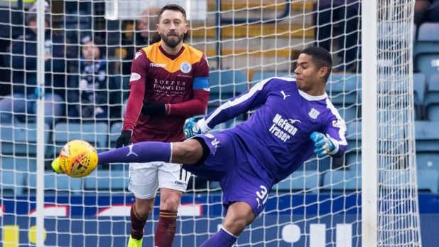 Dundee's on-loan goalkeeper Seny Dieng made his debut for the club in Saturday's draw with Queen of the South in the Scottish Cup
