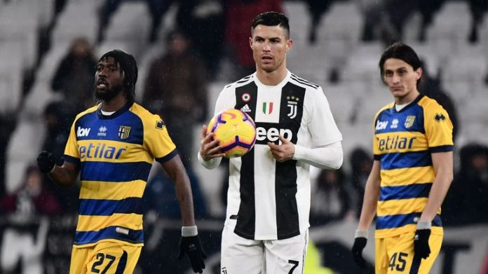 Cristiano Ronaldo has been fined for his provocative celebration of the Juventus Champions League victory over Atletico Madrid