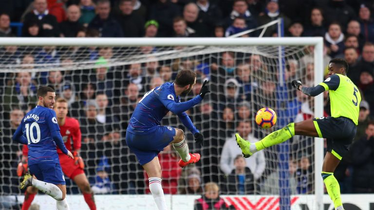 Gonzalo Higuain's deflected shot made it 4-0 to Chelsea