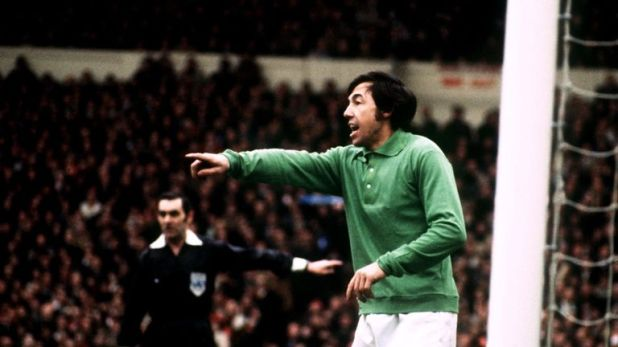 Banks during the League Cup Final between Stoke City and Chelsea in 1972
