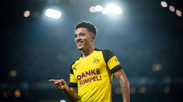 Jadon Sancho leaves Manchester City for Borussia Dortmund in 2017