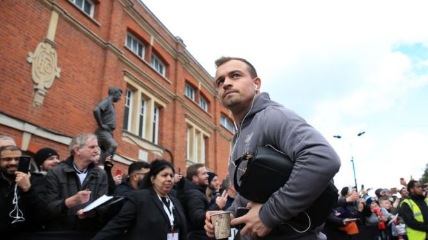 Shaqiri was an unused substitute at Fulham on Sunday