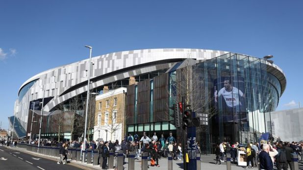 The impressive view from outside the new Tottenham Hotspur Stadium