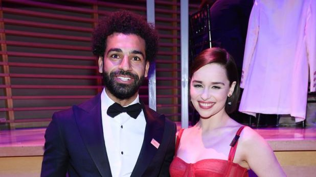 Mohamed Salah with Game of Thrones star Emilia Clarke