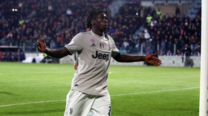Moise Kean responds to racist chants after scoring against Cagliari