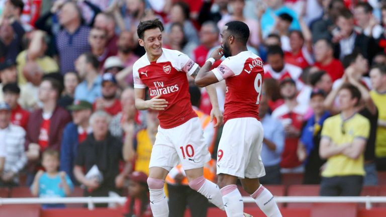 Ozil's last goal for Arsenal came in a 3-2 defeat to Crystal Palace last April