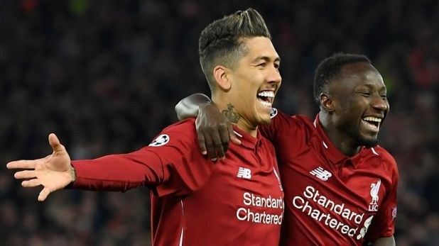 Roberto Firmino and Naby Keita both scored to put Liverpool 2-0 ahead in their Champions League quarter-final against Porto