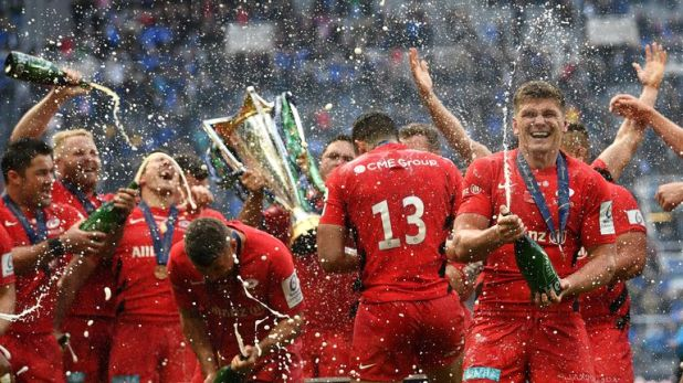 Saracens are on course for the double after beating Leinster in the Champions Cup final