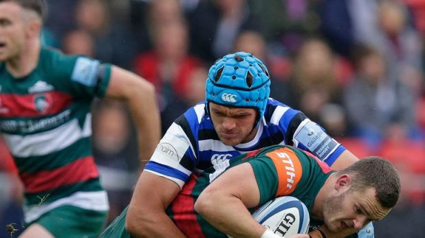 Zach Mercer starred in both attack and defence for Bath against Leicester