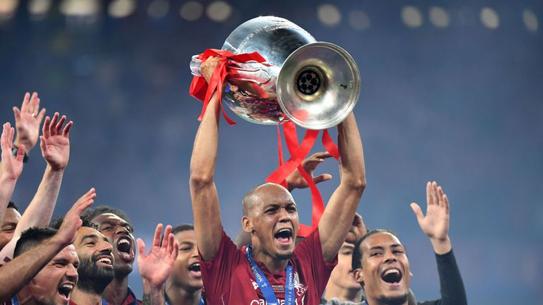 Fabinho made 11 appearances in the Champions League as Liverpool lifted their sixth title