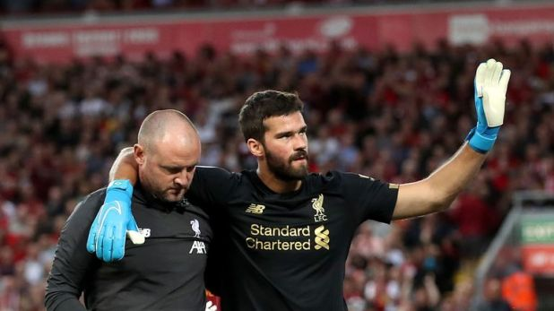 Alisson will be out for a 'few weeks'