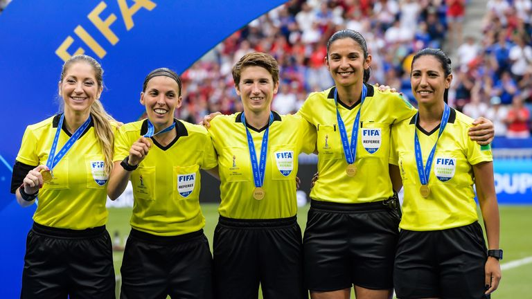 Frappart also took charge of the women's World Cup final