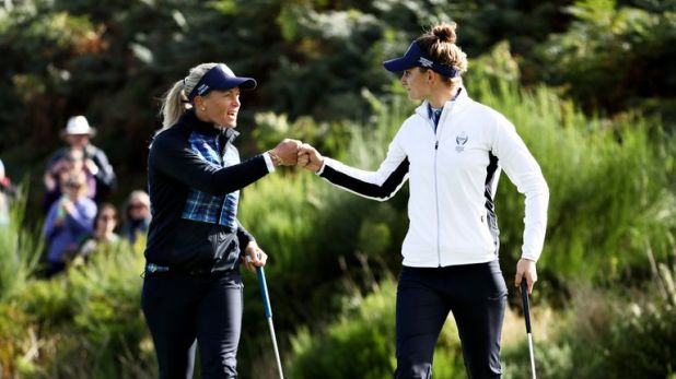 Suzann Pettersen and Anne van Dam proved an inspired pairing